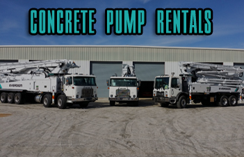 Need a concrete pump short term? Rent one from our fleet